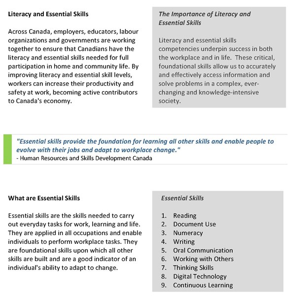 TOWES - Canada's Essential Credential - Overview
